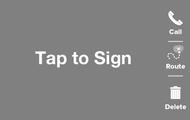Save recipient signatures