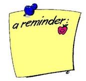 Staff Reminder
