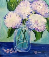 Mason Jar Hydrangeas