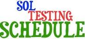 5th Grade Testing Schedule