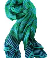 Turquoise Stripe Scarf - $25