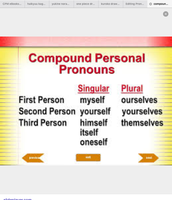 Compound personal pronoun