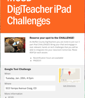 DigiTeacher iPad Challenges Flyer & RSVP