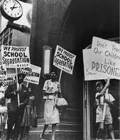 "''We protest school segregation"""