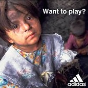 children like this one are in poverty because Adidas is not paying their workers enough