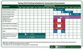 Spring 2016-Testing Schedule Update
