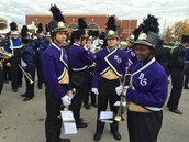 Preparing to march in the 2015 Veteran's Day Parade on 11/7