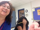 Student Selfies with Science Teacher