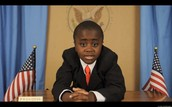 Kid president in his office