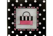 Polka Dot Handbag Canvas Print