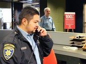 Use the campus security hotline for assistance