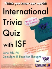 Take break from finals and join your international trivia quiz to get special prize!
