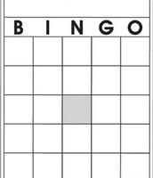 Bingo game sheet