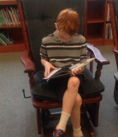 Evan spent some time reading afterwards!