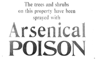 Arsenic is a poison