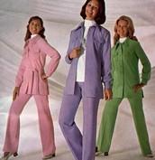 WOMEN'S PANT SUIT- 1970's