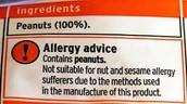 Peanut labels