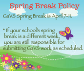 Spring Break Reminder