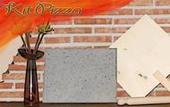 Kit per pizza in pietra lavica dell'Etna
