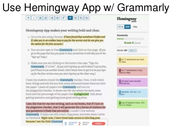 Hemingway App with Grammarly