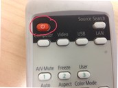 Turn the LCD on using the Remote