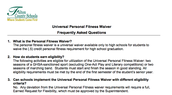 New Resource for High Schools: Universal Personal Fitness Waiver