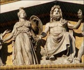 Athena and her father Zeus