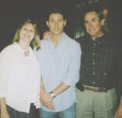 Jensen with his Mom and Dad