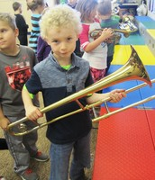 Young trombone enthusiast
