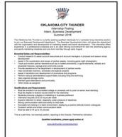 OKC Thunder Internship