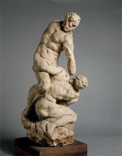 Hercules and Cacus; maquette