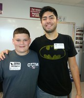 Isaiah Arguello  (Decker MS) and his mentor Jesus Del Rio Munoz (Community Member)