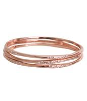 Rhea Bangles Rose Gold-original price $79, sale price $40