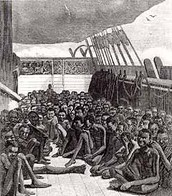 Americans took Africans from their country and brought them into the West Indies by boat.
