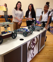 Tech Girls showed off their robots to our littlest Dragons!