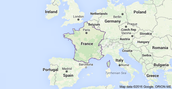 The map of France