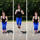 Exercise #3 : Line Jumps on balls of feet
