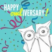 Happy Owl-iversary!!