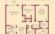 2 bedroom 2 bath Ranch