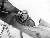 Lindbergh in his plane!
