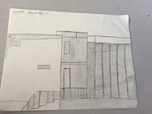 Hand Drawing of container home