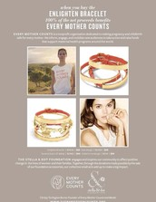 My Goal: to sell 130 bracelets by August 31st!  $1000+ will be donated to Every Mother Counts!