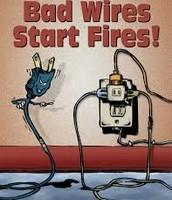 Bad wires Start Fires