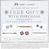 FREE gift at $125+
