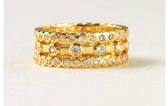 Harmony gold stackable rings SIZE 8
