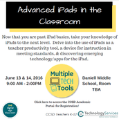 Advanced iPads in the Classroom