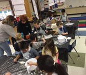 Mrs. Musto's class getting some science going!