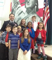 Major Tim Nelson and Smith students honor Veterans with heartfelt thanks.