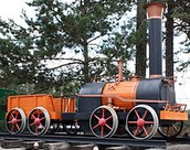 Locomotora de vapor creada por Cherepanov (1834).
