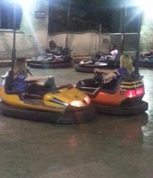 Ms. Smith & Ms. Hanley bumper cars @ Grad Nite